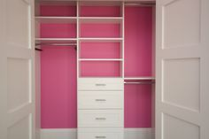 Color your Closet Painting the inside of your closet will make you smile every morning! Choose your favorite cheerful color and get painting...