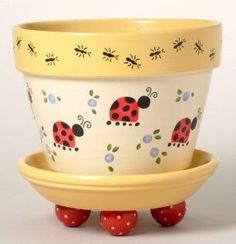 173 Elizabeth's Garden Flower Pot Stencil #Flowerpots