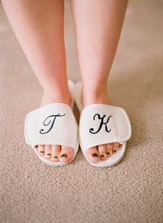 Put your best foot forward on your big day by capturing your perfectly polished toes. Photo by Elizabeth Messina via Style Me Pretty