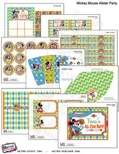 Mickey Mouse All Star Sports Party Kit by MetroEvents on Etsy