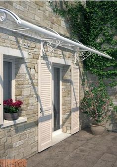 Marquesina Forja - Forge Canopy Awning Canopy, Door Canopy, Marquise, Roof Shapes, Outdoor Projects, Outdoor Decor, Front Porch Design, Steel Pergola, Balcony Design