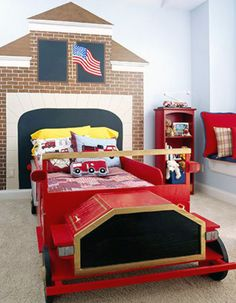 Mural for firefighter themed room