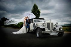 A Beauford wedding car www.goldchoiceweddingcars.co.uk Photo courtesy Tom Gibbon Photography