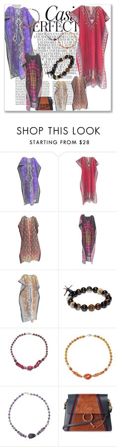Womens Caftan Dress Cover Up by tarini-tarini on Polyvore featuring Chloé and Whiteley