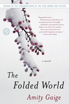 The Folded World by Amity Gaige - seriously beautiful writing...if I devoted my life to writing, I would want to write just like her. Beautiful.(http://www.amitygaige.com/the_folded_world.html)