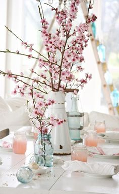 Cherry blossoms are extra special. They only bloom for a short time, so if you can time your wedding to the blooming of these fragrant tree flowers, you're fortunate. Because they're tree flowers, you can use the branches as part of the wedding decorations. Stick them in tall vases or incorporate shorter stems into your bridal bouquet. | Cherry Blossoms | 7 Spring Wedding Flowers for Seasonal Beauty | My Wedding Favors