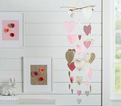 Finally found a mobile for Sophia's room....Heart Mobile | Pottery Barn Kids