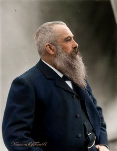 Claude Monet in 1899 Claude Monet was a founder of French Impressionist… Monet Paintings, Impressionist Paintings, Landscape Paintings, Claude Monet, Famous Artists, Great Artists, Artist Monet, Giverny France, Photo Portrait