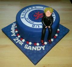Rangers FC themed birthday cake