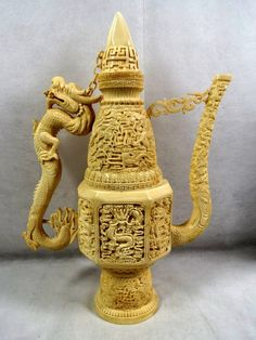 Magnificent Elephant Ivory Amphora.