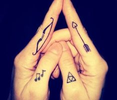 Bow and Arrow Matching Tattoos - 70+ Lovely Matching Tattoos  <3 <3