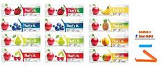 Thats It Barcomplete Flavor SamplerVariety pack of 12 2 Pear2 Cherry 2 Blueberry 2 Strawberry 1 Apricot 1 Mango 1 Pineapple 1 Banana BONUS 2 BAG CLIPS FREE *** Check this awesome product by going to the link at the image. (This is an affiliate link and I receive a commission for the sales)