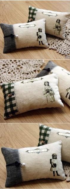 vintage coussins imprimés