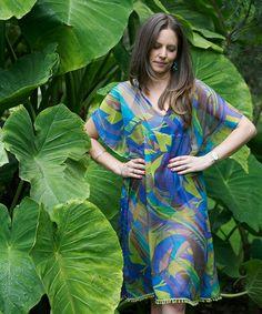 #naturaleza#vestido#salidadebaño#Elena Urrutia#colores#azul#verde#morado#amarillo#
