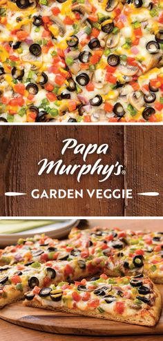 Time to veg out. Our fresh Garden Veggie pizza is topped with sauce, mushrooms, olives, onions, green peppers and tomatoes – an easy take on a delicious dinner Veggie Pizza, Menu Items, 10th Birthday, Stuffed Green Peppers, Pizza Recipes, Olives, Tomatoes, Stuffed Mushrooms, Veggies