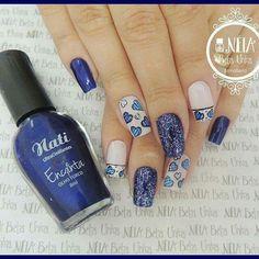 Azul Nail Paints, Cool, Nails, Beauty, Design, Finger Nails, White Stiletto Nails, Nail Designs, Nail Art