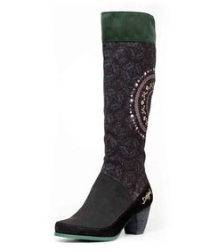 Look what I found on #zulily! Black Beaded Leather Boot - Women #zulilyfinds