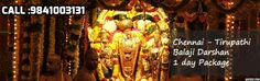 The best Chennai Tirupati package can be obtained by contacting Chennai Tirupati Car packages.   http://www.chennaitirupaticarpackages.com/