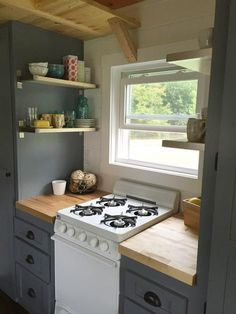 Gas Stove - Wanigan by Burrow Tiny Homes