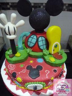 Mickey cake... la casa de mickey mousse