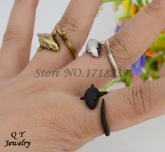 Real Picture Punk Vintage 3D Shark Hug Wrap Ring Anel Anillos Boho Chic Fish Rings For Women Men Fashion Jewelry Best Gift