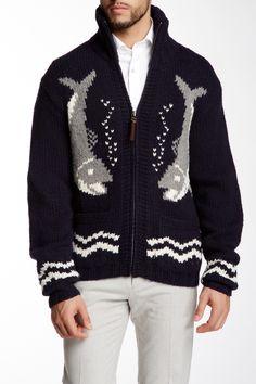 Hand Knit Shark Sweater by Gant Rugger on @nordstrom_rack