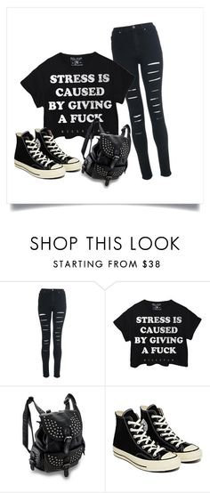"""""""Untitled #34"""" by blackveilkilljoy ❤ liked on Polyvore featuring Converse"""