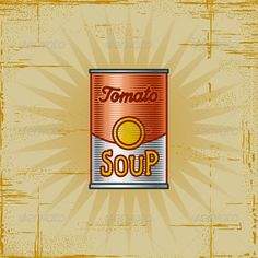 Retro Tomato Soup Can  #GraphicRiver         Retro tomato soup can in woodcut style. Vector illustration.     Created: 22March12 GraphicsFilesIncluded: JPGImage #VectorEPS Layered: Yes MinimumAdobeCSVersion: CS Tags: Canned #antique #background #can #cartoon #drawing #engraving #food #graphic #grocery #icon #illustration #merchandise #old #packaging #painting #product #retro #scratched #soup #supermarket #texture #tomato #vector #vintage #woodcut #worn