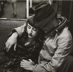 Couple on a subway, New York City, 1946. Photograph by Stanley Kubrick