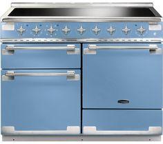 RANGEMASTER Elise 110 Electric Induction Range Cooker - China Blue & Chrome