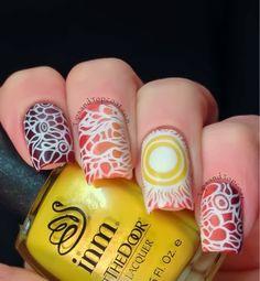 Tips and Topcoat: Sunbeam  #nail #nails #nailart