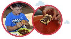 Receta de bocadillos de galletas rellenas de chocolate. www.planesparapeques.com