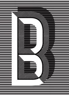 letter B - Typographic Posters: Pawaiian Hunch by Ruth Vissing Photo. Cool Typography, Typography Letters, Graphic Design Typography, Lettering Design, Graphic Design Illustration, Hand Lettering, Japanese Typography, Art Deco Typography, Type Design