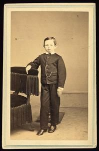 CDV of a scarcely seen portrait of Tad Lincoln, Abraham and Mary's youngest son. (c. 1862).  *s*
