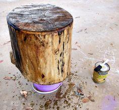 Dressing Up The Wood Log. Sealing WoodLog FurnitureDressing ...