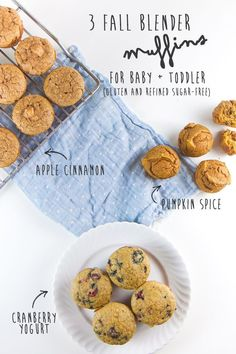 3 Fall Blender Muffins for Baby Toddler Baby FoodE Adventurous Recipes for Babies Toddlers Toddler Finger Foods, Healthy Finger Foods, Healthy Muffin Recipes, Toddler Snacks, Healthy Muffins, Baby Food Recipes, Snack Recipes, Toddler Recipes, Blender Recipes