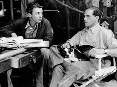 James Stewart and Frank Capra on the set of Mr Smith Goes to Washington, 1939  viabonaventurer