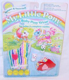 Hasbro MY LITTLE PONY JUMPER & SNOWSUIT MLP Baby Pony Wear 2 Outfist MOC`85 RARE #HasbroUSA