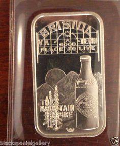Bristol VA – TENN Coca-Cola (Coke) Silver 75 Anniversary Bar