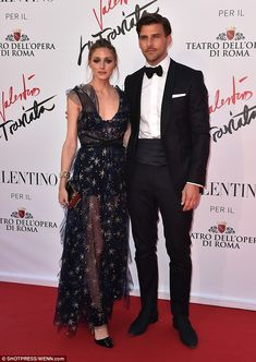 Power couple:  Olivia Palermo and Johannes Huebl attend the La Traviata opening gala at the Rome Opera House on May 22, 2016 #ValentinoLaTraviata