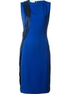 contrast panel shift dress $1,131 #Farfetch #shopping #DesigerClothing