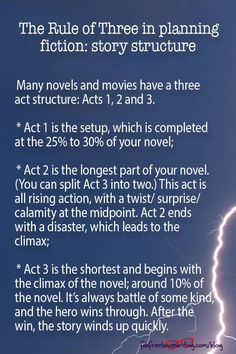 The Rule of Three in planning fiction: story structure