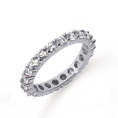 $3,041 : 1.50 Carat (ctw) 14k White Gold Round Diamond Ladies Eternity Anniversary Stackable Ring Wedding Band