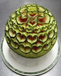 hearted watermelon