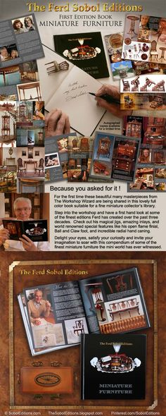 The Ferd Sobol Editions has just released their gorgeous new book called Miniature Furniture, showcasing some of your favorite editions from the past 3 decades. You can see a sneak preview and purchase at: http://soboleditions.bigcartel.com  BLOG: http://thesoboleditions.blogspot.com WEBSITE: www.SobolEditions.com