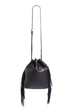 Patricia Nash 'Niccioleta' Fringe Leather Bucket Bag