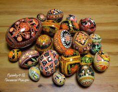 A lovely display of pysanky by Tetyana Solotska teacher of pysanky in Japan.