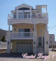 Coastal Collection: Coastal Design 3 | Westchester Modular Homes, Inc. & Phoenix Construction Corp.  This house is roughly 1,982 sq feet complete with a roof top terrace! It has yet to be built on Long Beach NY. It is 24ft by 42 ft.