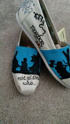 Lord of the Rings & Hobbit TOMS by WallysByMillenium on Etsy, $75.00