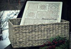 ПРОСТО короб для белья - серый, плетеная корзина, бельевая корзина, плетеная мебель